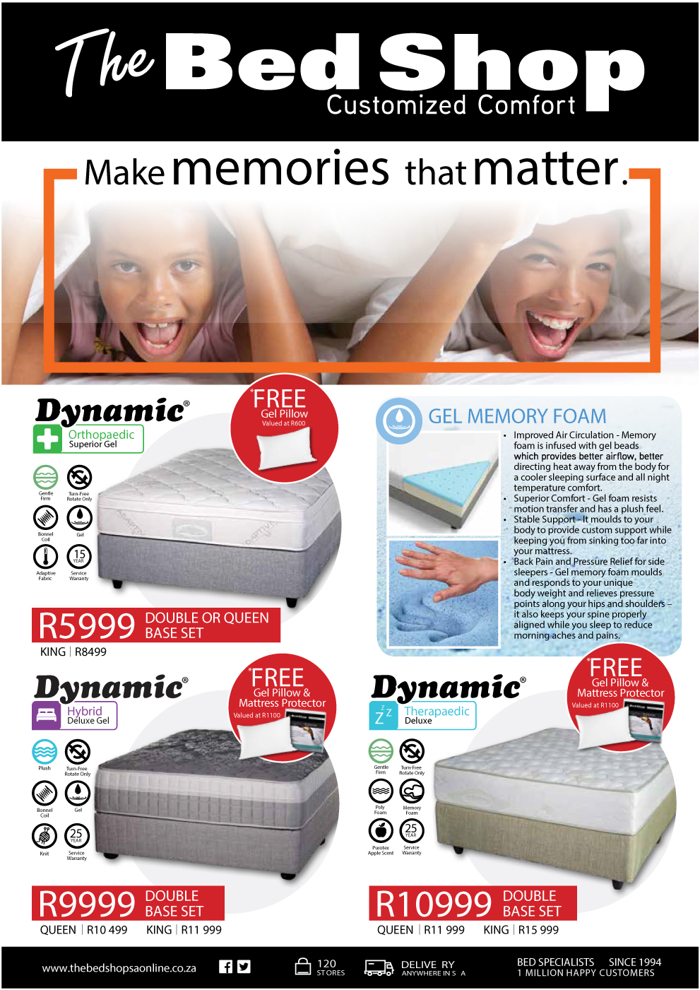 lowest prices for all mattress sizes fourways